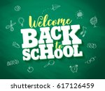 back to school vector banner... | Shutterstock .eps vector #617126459
