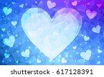 light pink  blue vector heart...   Shutterstock .eps vector #617128391