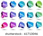 vector 3d speech bubbles | Shutterstock .eps vector #61713046