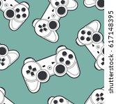 vector seamless pattern with... | Shutterstock .eps vector #617148395