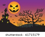 halloween invitation with... | Shutterstock .eps vector #61715179