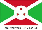 Burundi flag - isolated illustration - stock photo