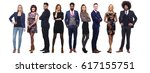 team of full body people | Shutterstock . vector #617155751