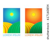 agro company template.set of... | Shutterstock . vector #617160854