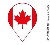 canadian flag  red maple leaf... | Shutterstock .eps vector #617167109