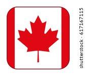 canadian flag  red maple leaf... | Shutterstock .eps vector #617167115