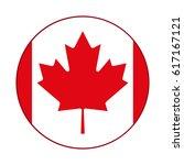 canadian flag  red maple leaf... | Shutterstock .eps vector #617167121