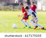 kids soccer football   young...   Shutterstock . vector #617175335