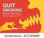 quit smoking poster | Shutterstock .eps vector #617185889