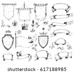 hand drawn collection of... | Shutterstock . vector #617188985