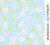 seamless pattern of easter eggs | Shutterstock .eps vector #617190644