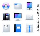 vector universal website icons   Shutterstock .eps vector #61719118