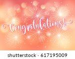 congratulations banner. card... | Shutterstock .eps vector #617195009