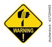 warning sharp element  sign ... | Shutterstock .eps vector #617204405