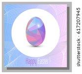 happy easter cards set ... | Shutterstock .eps vector #617207945