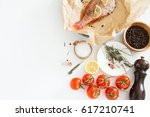 cooking and marinating sea fish ... | Shutterstock . vector #617210741