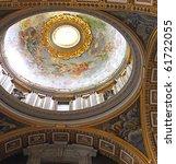 St. Peter's Basilica, St. Peter's Square, Vatican City. Indoor interior. - stock photo