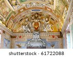 Vatican Museums - Gallery of Vatican. Italy, Rome. - stock photo