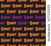 halloween tile vector pattern... | Shutterstock .eps vector #617222525
