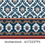 luxury old fashioned damask... | Shutterstock .eps vector #617223791