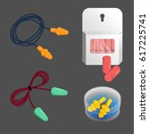 ear plugs of different... | Shutterstock .eps vector #617225741