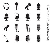 microphone icons set. black on... | Shutterstock .eps vector #617226911