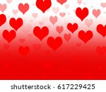 background with hearts... | Shutterstock . vector #617229425