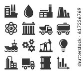 industry icons set | Shutterstock .eps vector #617236769