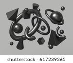 3d render  abstract background  ... | Shutterstock . vector #617239265