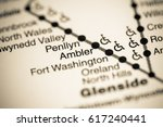 Small photo of Ambler Station. Philadelphia Metro map.