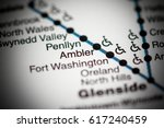 Small photo of Ambler Station. Philadelphia Metro map.