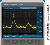 spectrum analyzer | Shutterstock .eps vector #617243015