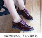 women's legs in beautiful shoes | Shutterstock . vector #617250611