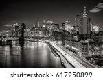 lower manhattan skyscrapers and ... | Shutterstock . vector #617250899