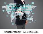 recruitment concept presented... | Shutterstock . vector #617258231