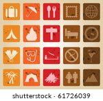 travel set of different web... | Shutterstock . vector #61726039