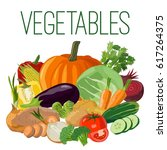 vegetables. vector illustration | Shutterstock .eps vector #617264375
