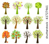 collection of trees  isolated... | Shutterstock . vector #61727461