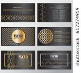 gold banner background flyer... | Shutterstock .eps vector #617274959