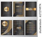 gold banner background flyer... | Shutterstock .eps vector #617274974