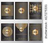 gold banner background flyer... | Shutterstock .eps vector #617275331
