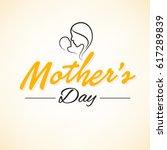 happy mother's day  vector... | Shutterstock .eps vector #617289839