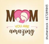 happy mother's day  vector...   Shutterstock .eps vector #617289845