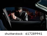 male carjacker open car door...
