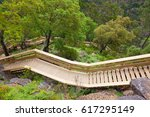 walkways with many stairs in... | Shutterstock . vector #617295149