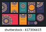 mandala vintage greeting... | Shutterstock .eps vector #617306615