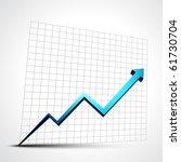 vector growth progress blue...   Shutterstock .eps vector #61730704