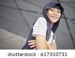 Portrait Of Happy Asian Kid...