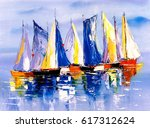 oil painting   boat | Shutterstock . vector #617312624