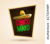 cinco de mayo holiday poster... | Shutterstock .eps vector #617324489